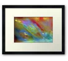 Old trickster's energy revealed Framed Print