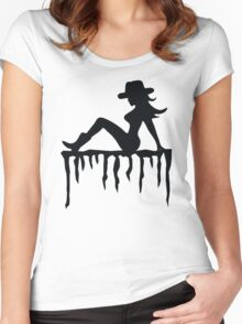 Sexy Cowgirl Women's Fitted Scoop T-Shirt