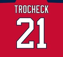 Florida Panthers Vincent Trocheck Jersey Back Phone Case by Russ Jericho