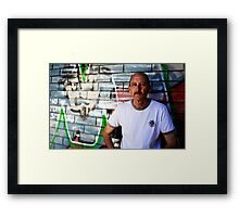 David C - Looking Out - Colour Framed Print