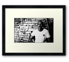 David C - Looking Out - B&W Framed Print