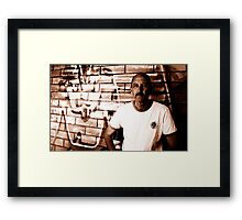 David C - Looking Out - Sepia Framed Print