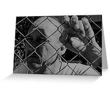 David C - Trapped - Soft B&W Greeting Card