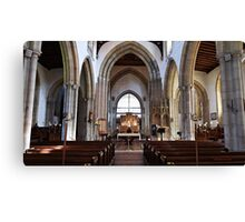 The Church of England end of the Church. Canvas Print