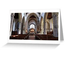 The Church of England end of the Church. Greeting Card