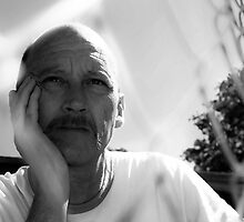 David C - Trapped In Thought - B&W by tmac
