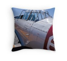 North American Rokwell Harvard AT-6C (SAAF 69) (ZU-FNE) Throw Pillow