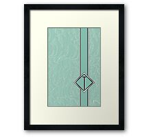 1920s Blue Deco Swing with Monogram letter T Framed Print