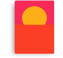 Minimal Sunset  Canvas Print