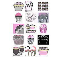 mixed media cupcakes  Photographic Print