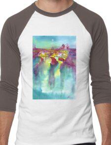PONTE VECCHIO, Florence Men's Baseball ¾ T-Shirt