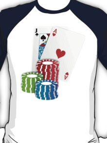 Jack and Ace, Texas Hold'em Poker, Coin Stacks T-Shirt
