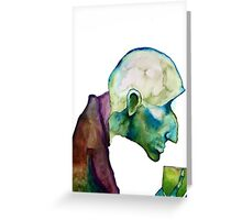 """Marilyn Manson Painting """"When I Get Old"""" Greeting Card"""