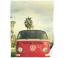 VW Coastin' Poster