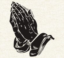 Praying to God (Hands Silhouette Symbol, Icon) by tshirtdesign