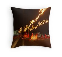 Freeway by Night Throw Pillow