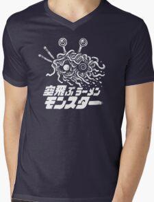 The Flying Ramen Monster Mens V-Neck T-Shirt