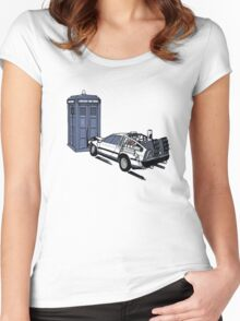 Back to the Whoture Women's Fitted Scoop T-Shirt