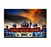Mr Wolfe circus Art Print