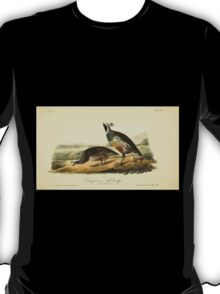 James Audubon Vector Rebuild - The Birds of America - From Drawings Made in the United States and Their Territories V 1-7 1840 - Californian Partridge T-Shirt