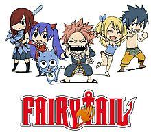 Fairy Tail Chibi Photographic Print