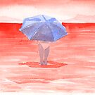 Red Sea Umbrella by krddesigns