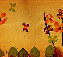 Grunge Floral by krddesigns