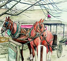 Horse and Carriage by morgansartworld