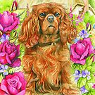King Charles Spaniel by morgansartworld