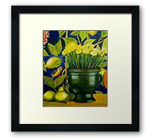 Mother's Day 2 - Oil Painting Framed Print
