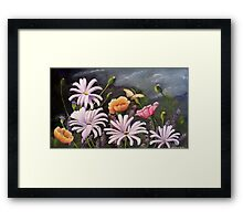Spring Flowers Acrylic painting Framed Print