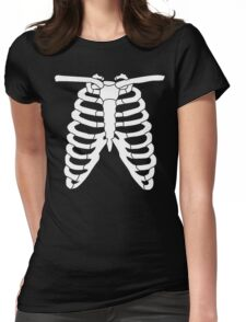 Skeleton Ribs Womens Fitted T-Shirt