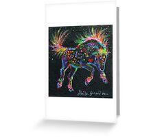 Fireworks Pony Greeting Card
