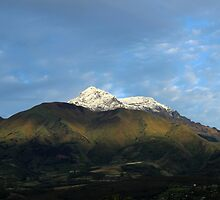 Snow Capped Peak on Mount Cotacachi by rhamm