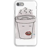 Coffee Mug Smoking a Cigarette iPhone Case/Skin