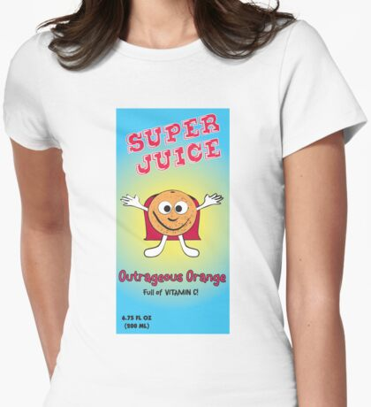 Orange Super Juice Womens Fitted T-Shirt
