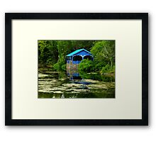 Green With A Hint Of Blue ~ Part Three Framed Print