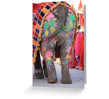 Arty Elephant Greeting Card