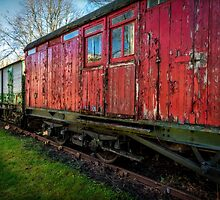 Old Train Wagon by Adrian Evans