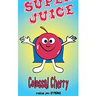 Cherry Super Juice Healthy Juice Drink by thirdeyestudio