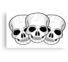 Skulls Fantasy Art Design Canvas Print