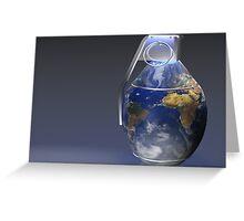 Earth Grenade Greeting Card