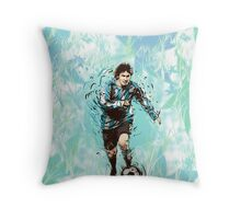 Messi Argentina Abstract Throw Pillow