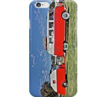 Volkswagen Microbus with matching Caravan iPhone Case/Skin