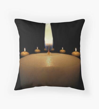 Candles 1 Throw Pillow