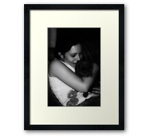 Cuddle Framed Print