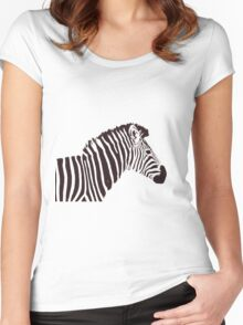Zed the Zebra Women's Fitted Scoop T-Shirt