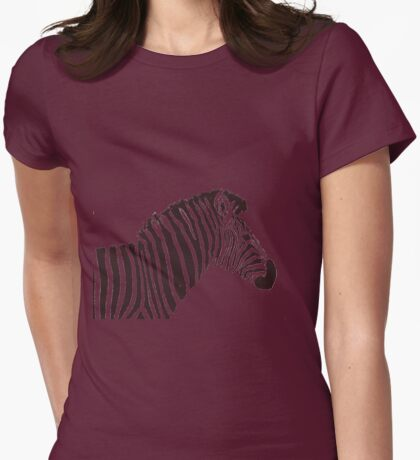 Zed the Zebra Womens Fitted T-Shirt