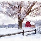 Winter Arrives Watercolor II by Edward Fielding
