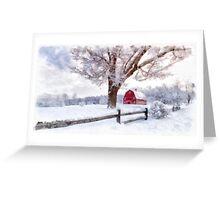 Winter Arrives Watercolor II Greeting Card